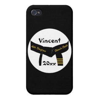 Het gepersonaliseerde Zwarte band van de Graad van iPhone 4 Covers
