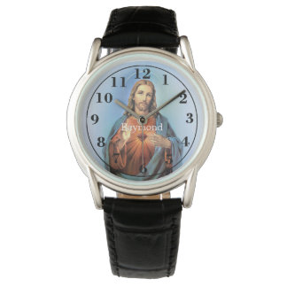 Het gepersonaliseerde Zwarte Horloge/Jesus van de Polshorloge