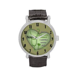 Het geriatrische Groene Hart van de Verpleegster Horloges