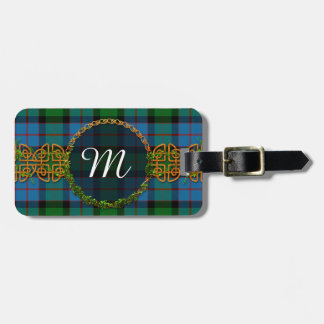 Het Geruite Schotse wollen stof en het Monogram Bagagelabel