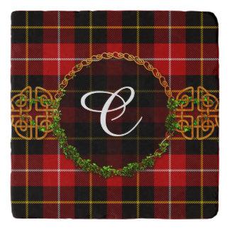 Het Geruite Schotse wollen stof en het Monogram Trivet