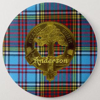 Het Geruite Schotse wollen stof van Anderson & de Ronde Button 6,0 Cm