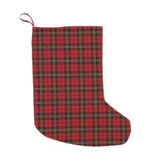Het Geruite Schotse wollen stof van Brodie van de Kleine Kerstsok