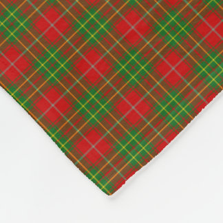 Het Geruite Schotse wollen stof van Burnett van de Fleece Deken