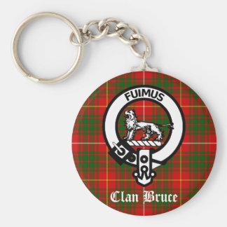 Het Geruite Schotse wollen stof van CREST van Bruc Sleutelhanger