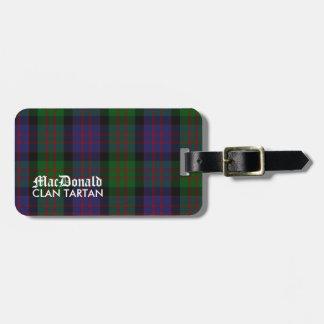 Het Geruite Schotse wollen stof van de Clan van Bagagelabel