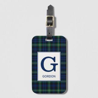 Het Geruite Schotse wollen stof van Gordon van de Bagagelabel