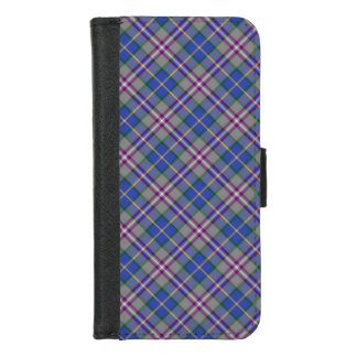 Het Geruite Schotse wollen stof van het District iPhone 8/7 Portemonnee Hoesje