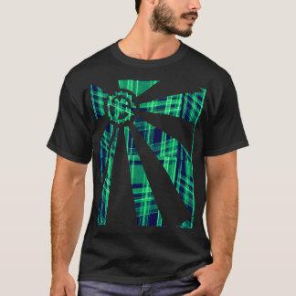 Het Geruite Schotse wollen stof van het toestel T Shirt