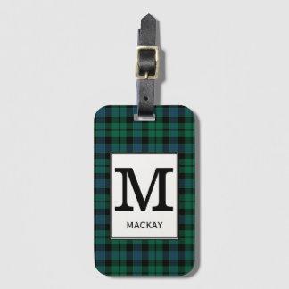 Het Geruite Schotse wollen stof van MacKay van de Kofferlabel