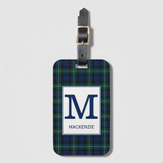 Het Geruite Schotse wollen stof van Mackenzie van Bagagelabel