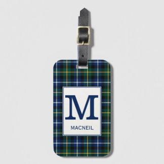 Het Geruite Schotse wollen stof van MacNeil van de Bagagelabel