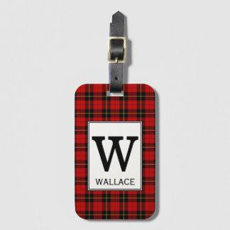 Het Geruite Schotse wollen stof van Wallace van de Bagagelabel