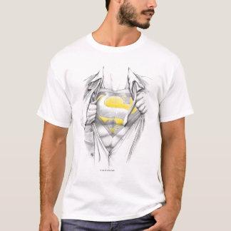 Het geschetste Logo van de Superman van de Borst T Shirt
