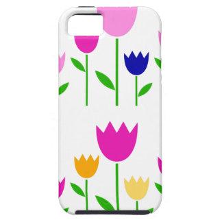 Het geschilderde Collectie van de zomer van Tulpen Tough iPhone 5 Hoesje