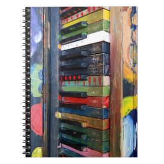 Het geschilderde Kleurrijke Antiek Notitieboekje Ringband Notitieboek