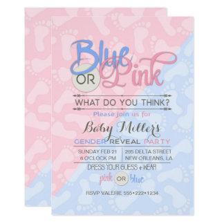 Het Geslacht van het baby openbaart de Roze Blauwe Kaart