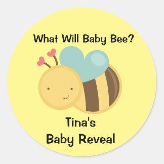 Het Geslacht van het baby openbaart het Thema van Ronde Sticker