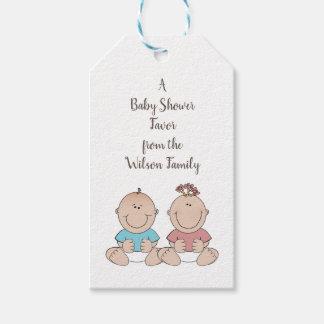 Het Geslacht van twee Babys openbaart de Labels Cadeaulabel