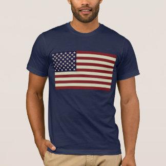Het gestikte Vintage Overhemd van de Vlag T Shirt