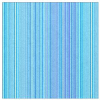 Het gestreepte Blauw van de Druk van het Patroon Stof
