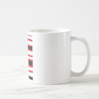 Het gestreepte Ontwerp van de Abstractie Koffiemok