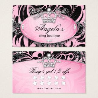 Het gestreepte Roze van de Kroon van de Juwelen Visitekaartjes