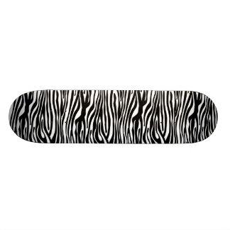 Het gestreepte Zwart-witte Patroon van de Druk - 18,1 Cm Old School Skateboard Deck