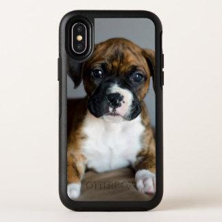 Het getijgerde Puppy van de Bokser OtterBox Symmetry iPhone X Hoesje