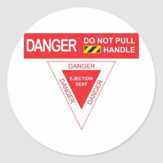 Het Gevaar van het vliegtuig Ronde Stickers