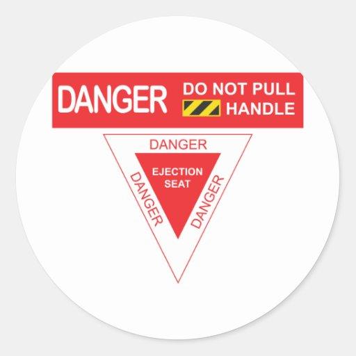 Het Gevaar van het vliegtuig Sticker