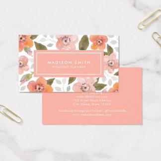Het Gevoelige BloemenVisitekaartje van de perzik Visitekaartjes