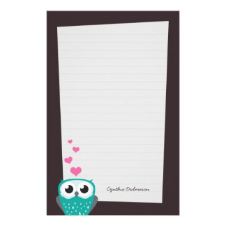 (Het gevoerde) Document van de Nota van de Harten Briefpapier