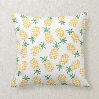 Het gevormde hoofdkussen van de ananas waterverf sierkussen