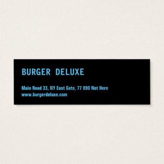 Het GEWAAGDE Blauw van de Hamburger Mini Visitekaartjes