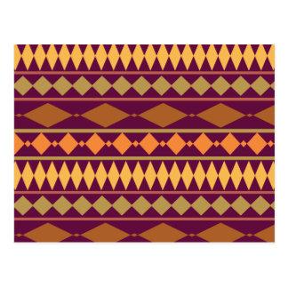 Het gewaagde Magenta Stammen Geometrische Patroon Briefkaart