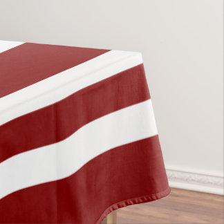 Het gewaagde Rode en Witte Patroon van Strepen Tafelkleed