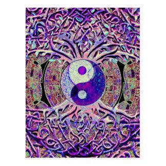 Het geweldige Kijken de Boom van Yin Yang Briefkaart