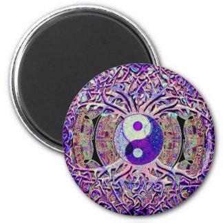 Het geweldige Kijken de Boom van Yin Yang Ronde Magneet 5,7 Cm