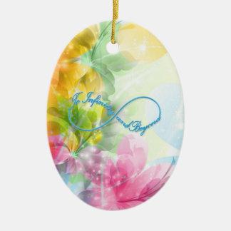 """Het geweldige symbool van de Oneindigheid """"aan Keramisch Ovaal Ornament"""