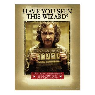 Het Gewilde Poster van Sirius Zwarte Briefkaart