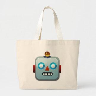 Het Gezicht Emoji van de robot Grote Draagtas