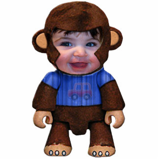 Het Gezicht van de aap - Jongen Staand Fotobeeldje