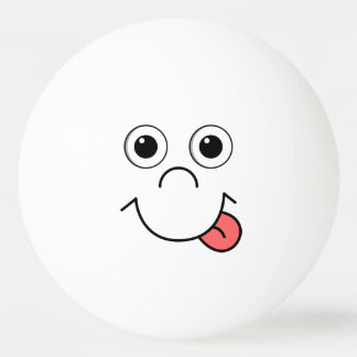 Het gezicht van de cartoon pingpongbal