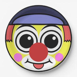 Het Gezicht van de clown Papieren Bordje