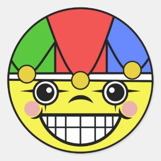 Het Gezicht van de joker Ronde Sticker