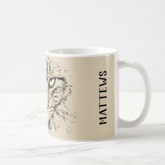 Het gezicht van de kat koffiemok