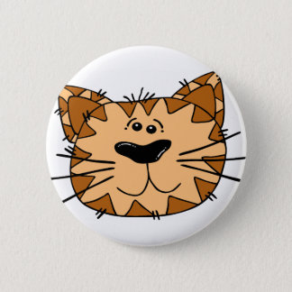 Het Gezicht van de Kat van de Gestreepte kat van Ronde Button 5,7 Cm