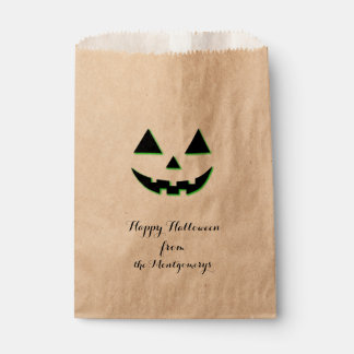 Het Gezicht van de Pompoen van Halloween Bedankzakjes 0