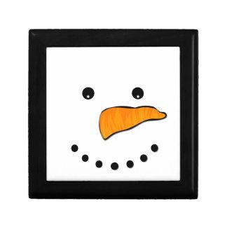 Het Gezicht van de sneeuwman Decoratiedoosje
